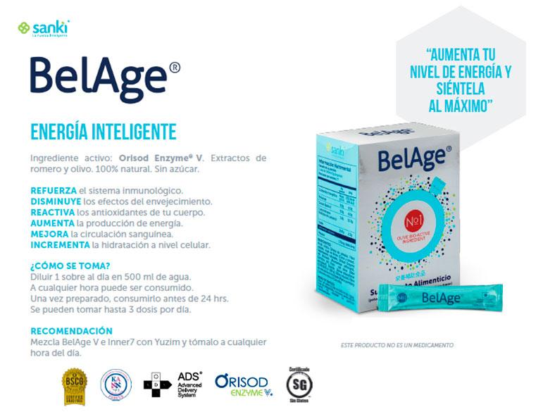 BelAge, suplemento alimenticio, energía inteligente, doctor labrada, dr labrada